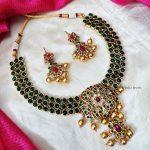 Classy Green Kemp Stone Necklace (2)