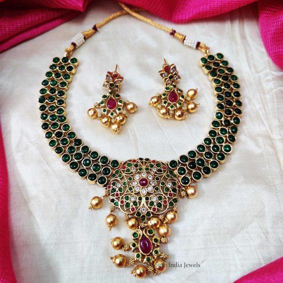 Classy Green Kemp Stone Necklace