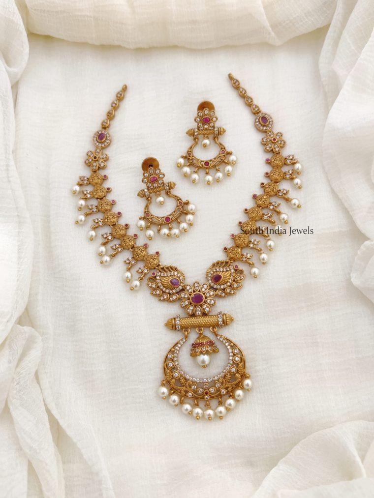 Elegant AD Stone Lakshmi Necklace