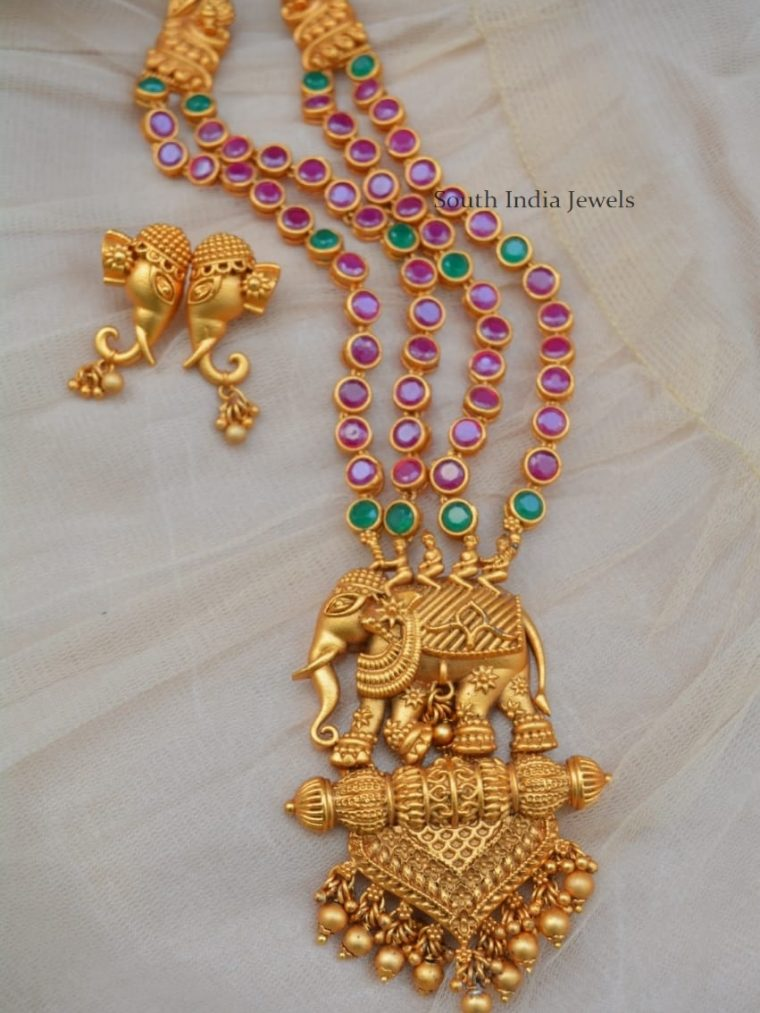 Elegant Elephant Design Necklace