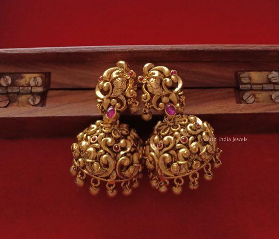 Elegant Lakshmi & Peacock Design Necklace (2)