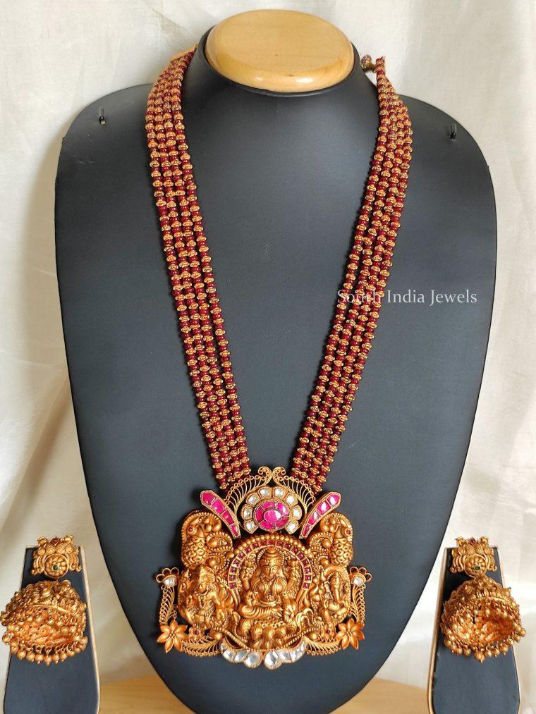 Elegant Lakshmi Pendant Haaram