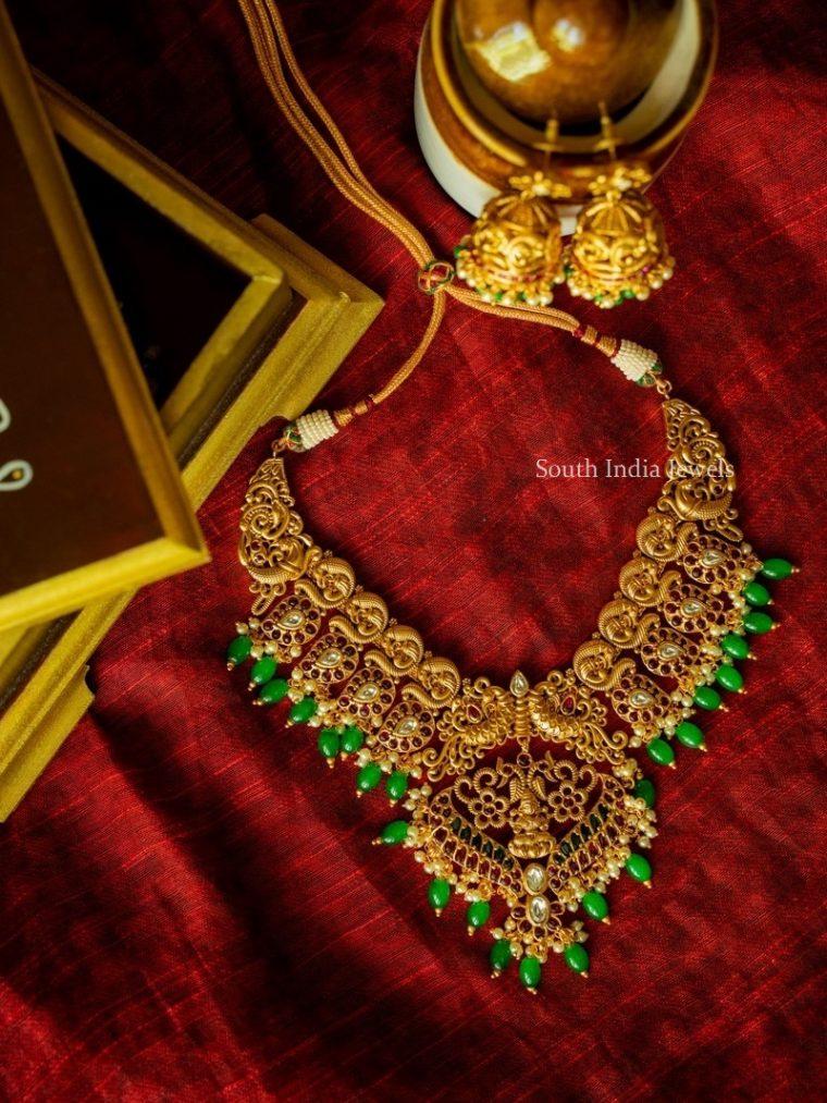 Elegant Matte Peacock Necklace