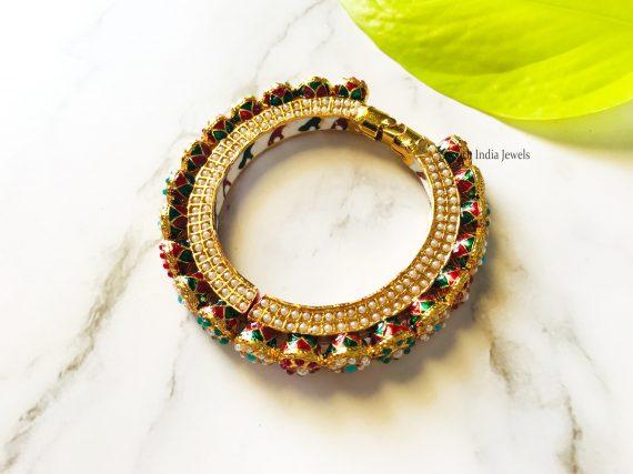 Elegant Multi Color Kada Bangle