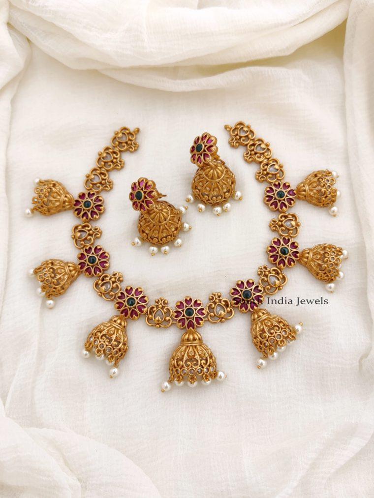Elegant Real Kemp Flower Design Necklace