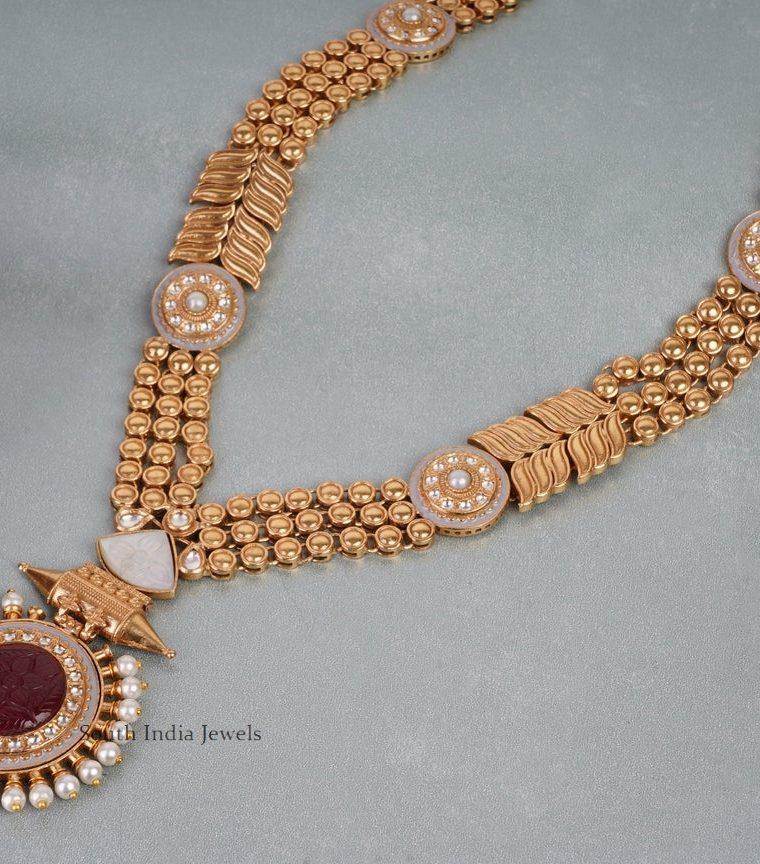 Elegant Round Ruby Haram (4)