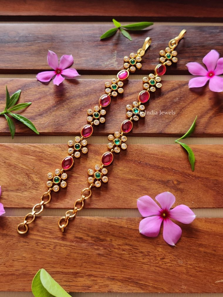 Elegant Ruby Flower Design Mattal