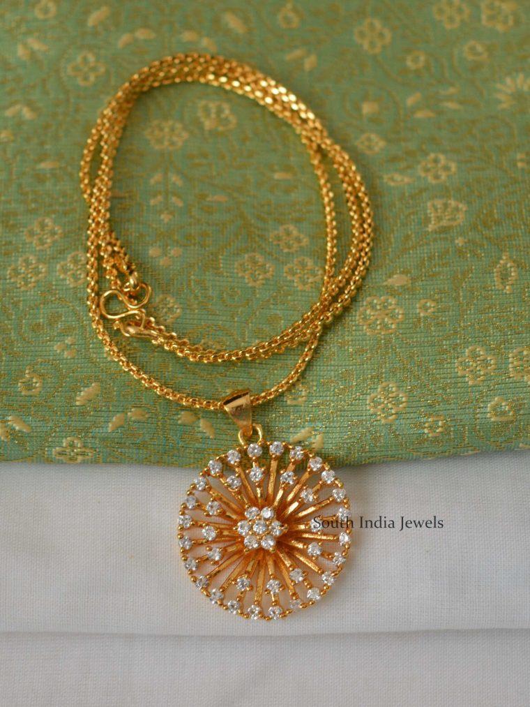Flower Design Pendant Chain