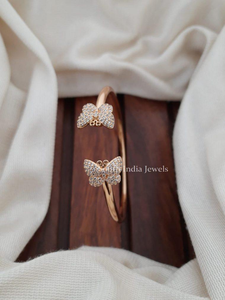 Gorgeous CZ Stone Butterfly Bracelet