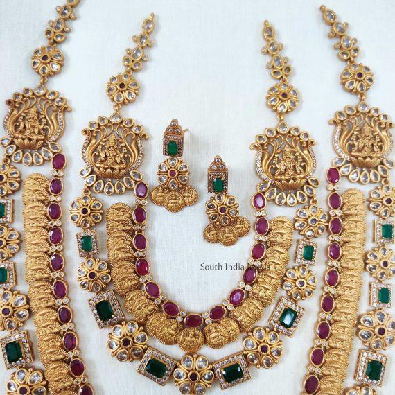 Gorgeous Lakshmi Coin Bridal Combo Set