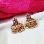 Gorgeous Multi Stone Jhumka Earrings