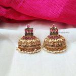 Gorgeous Multi Stone Jhumka Earrings (2)