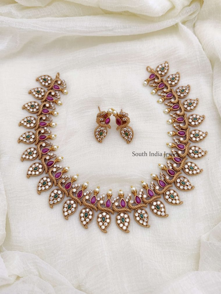 Gorgeous Multi Stone Peacock Necklace