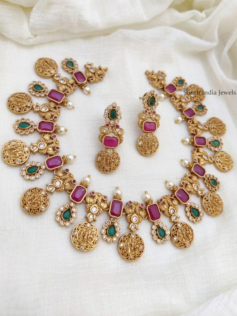 Gorgeous Ram Parivar AD Stone Necklace