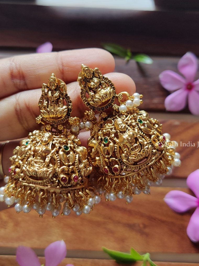 Grand Bridal Lakshmi Jhumkas