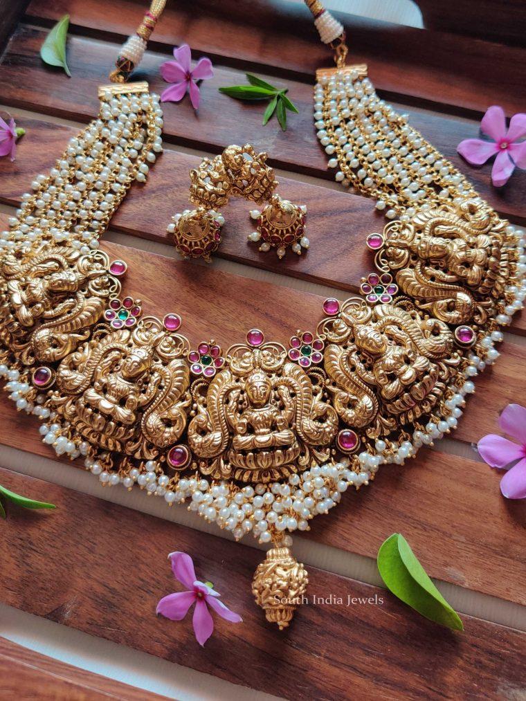 Grand Nagas Lakshmi Pearl Necklace