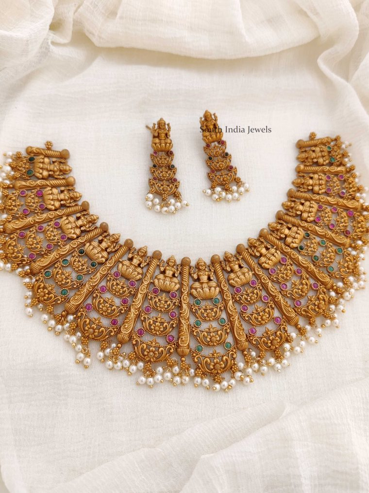 Heavy Lakshmi Bridal Necklace