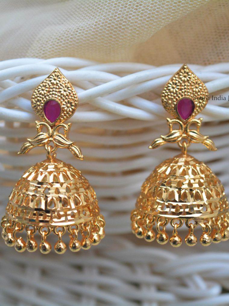 Imitation Gold Polish Jhumkas