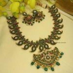 Kemp Stone Mango Design Necklace