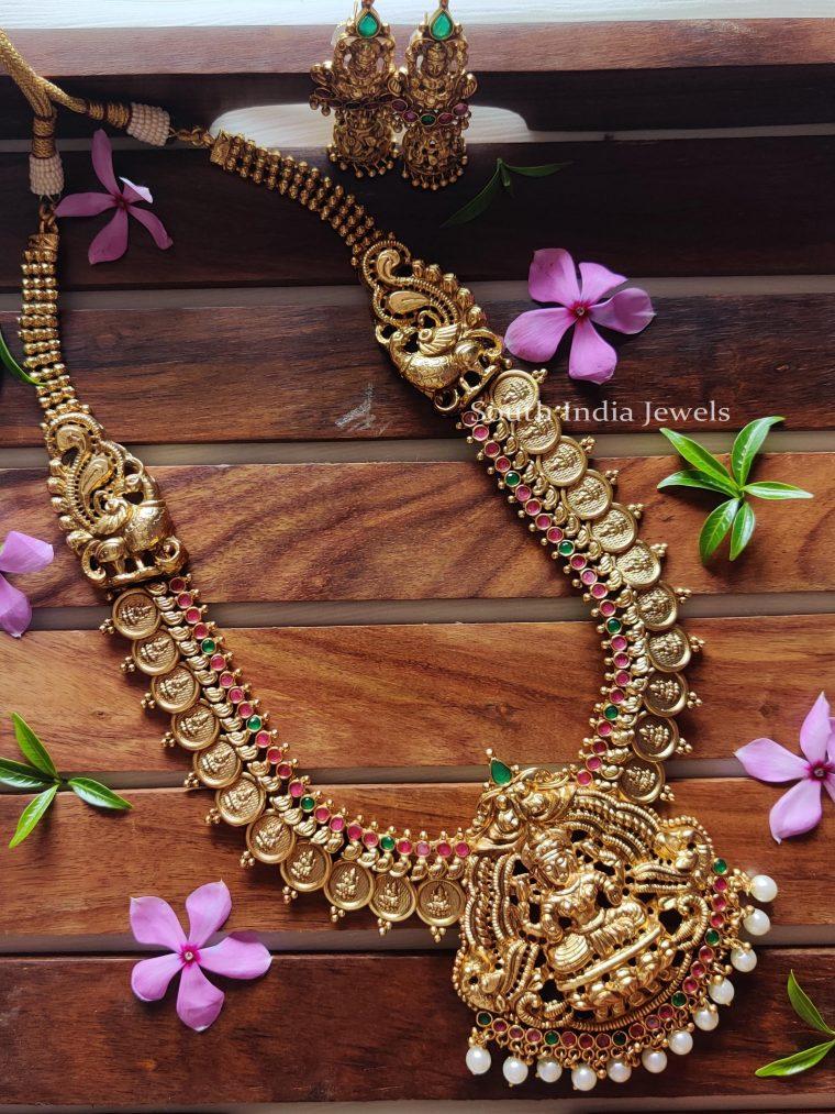 Marvelous Lakshmi & Peacock Design Haaram