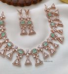 Party Wear Rose Gold Necklace (4)