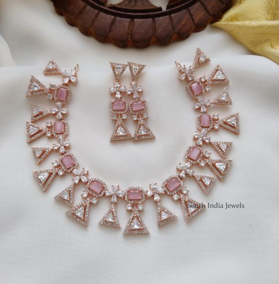 Party Wear Rose Gold Necklace