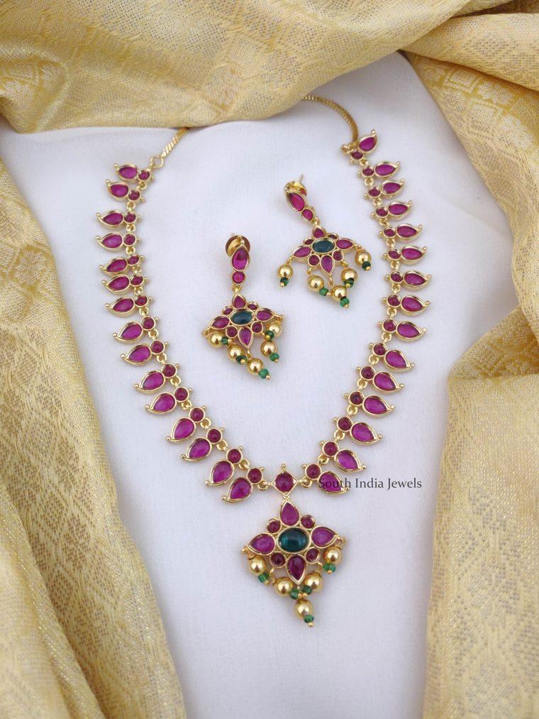 Pretty Mango Design Kemp Necklace (2)
