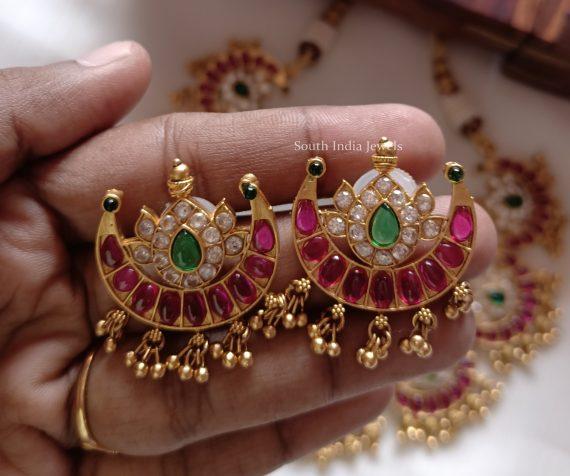 Ruby & Emerald Half Moon Necklace (2)