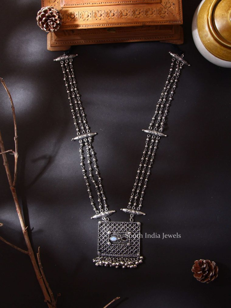 Silverlook Alike Layered Mirror Necklace