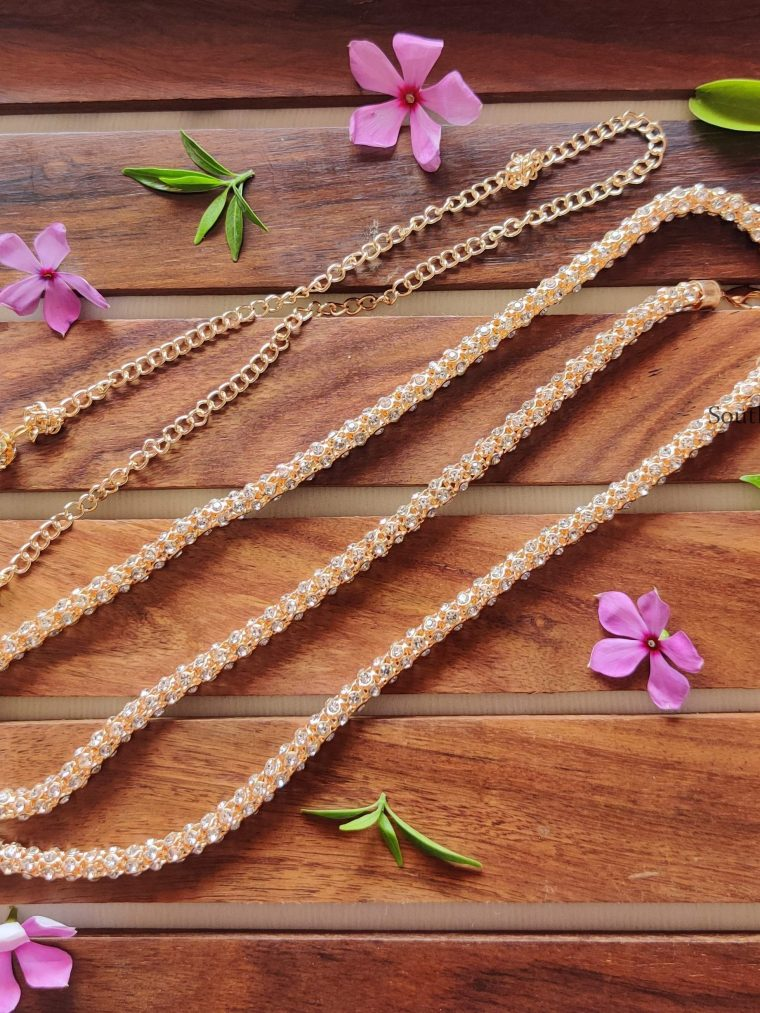 Simple Rose Gold Stone Hipchain