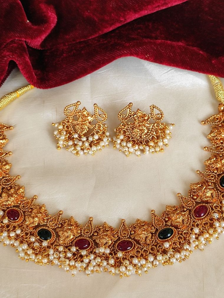 Traditional Ganesha Pearl Necklace