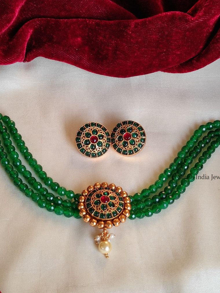 Traditional Green Beads Choker