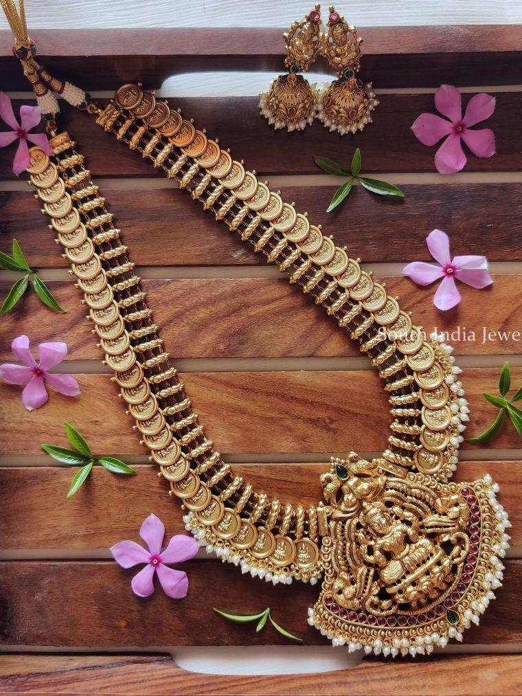 Traditional Lakshmi Coin Haaram Set