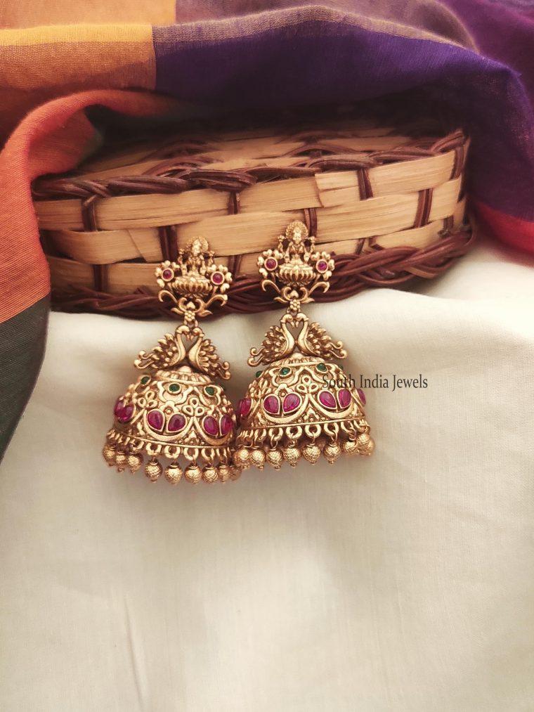 Traditional Lakshmi Design Jhumkas