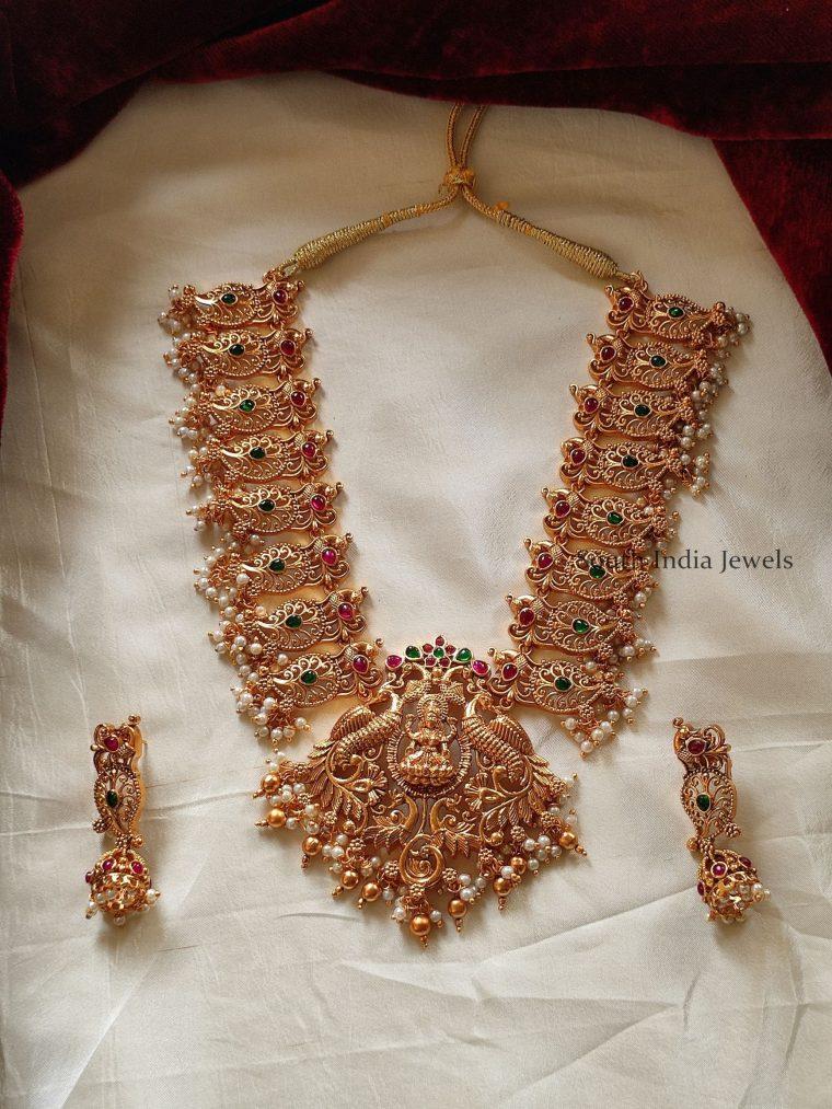 Traditional Lakshmi & Mango Design Necklace