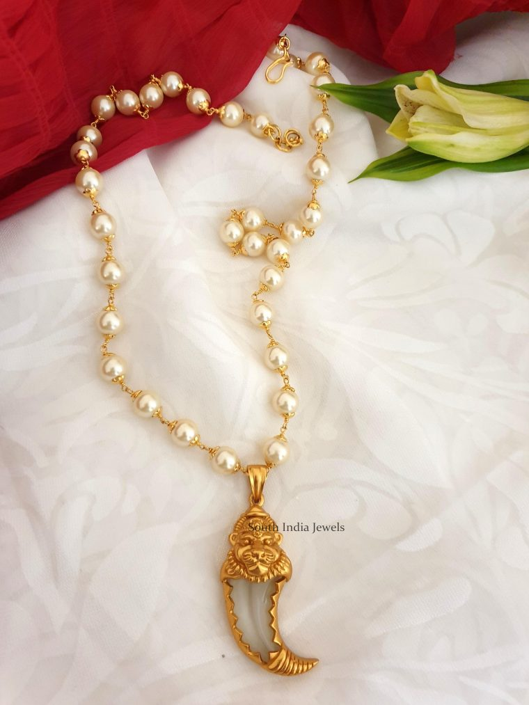 Traditional Loin Nail Pendant with Chain (2)
