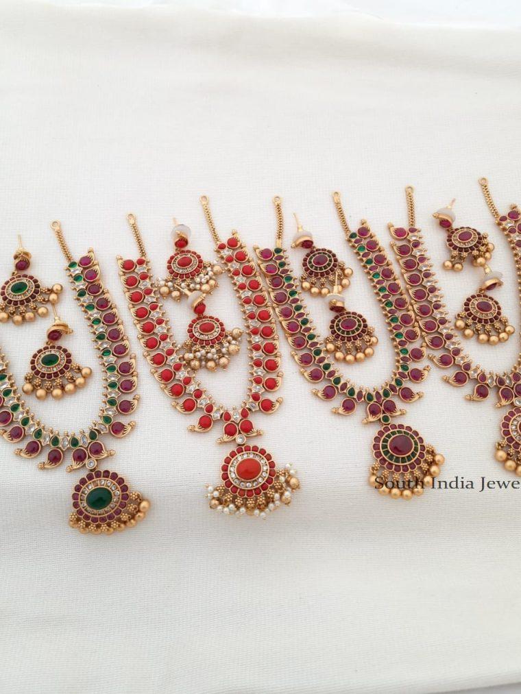 Traditional Matte Mango Design Necklace