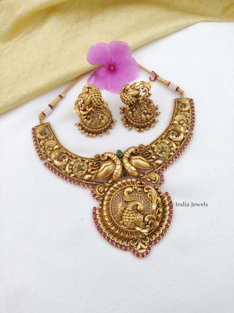 Traditional Peacock Bridal Necklace (2)