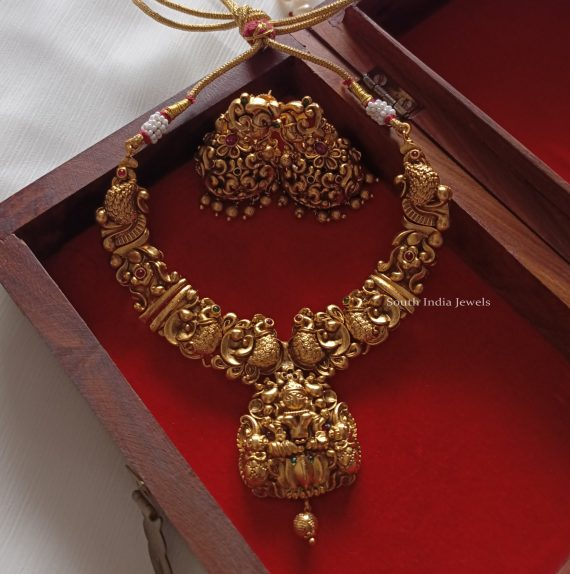 Traditional Peacock Necklace Set