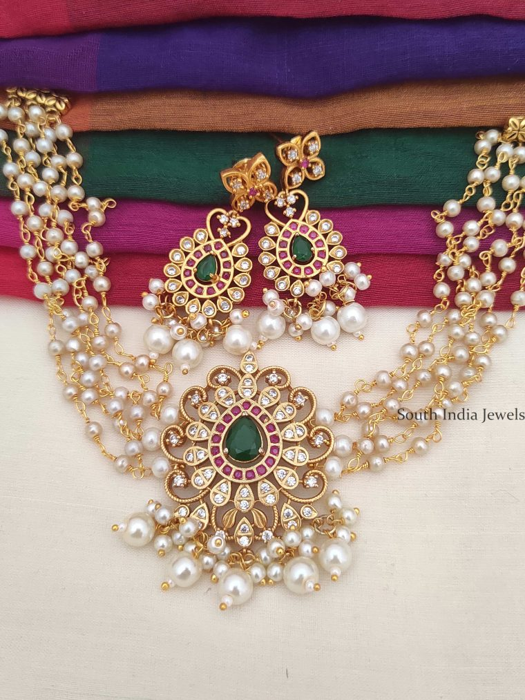 Traditional Pearl Cluster Choker