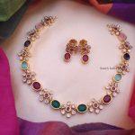 Trendy Multi Color Necklace