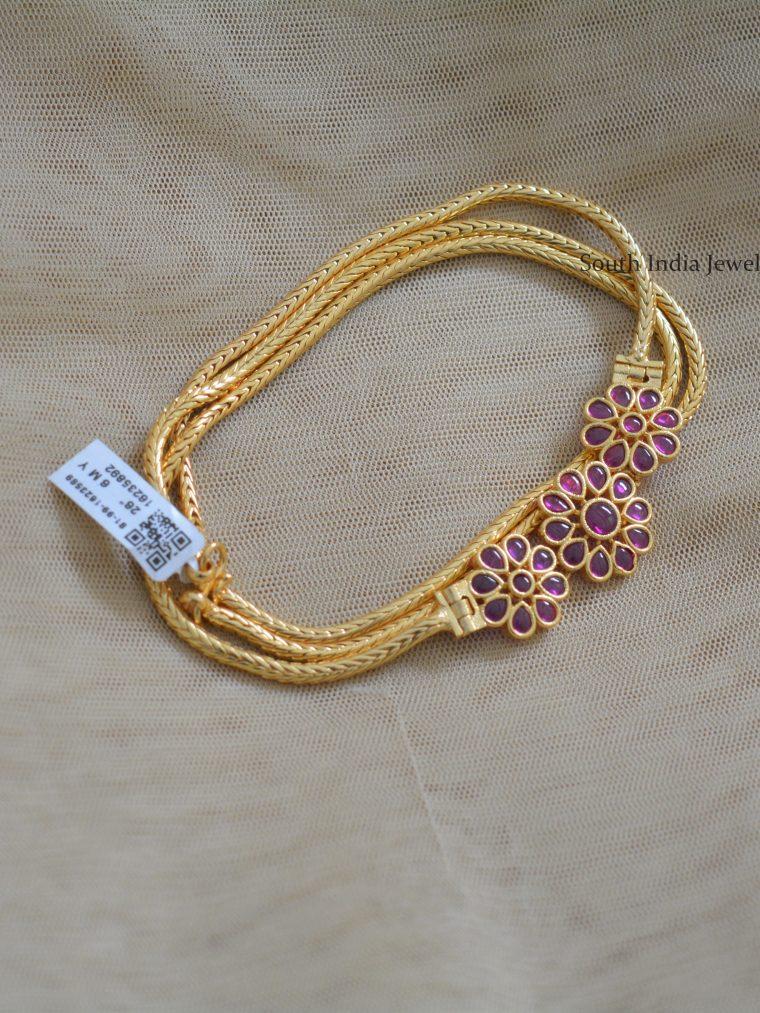 Trendy Side Locket Mugapu Chain