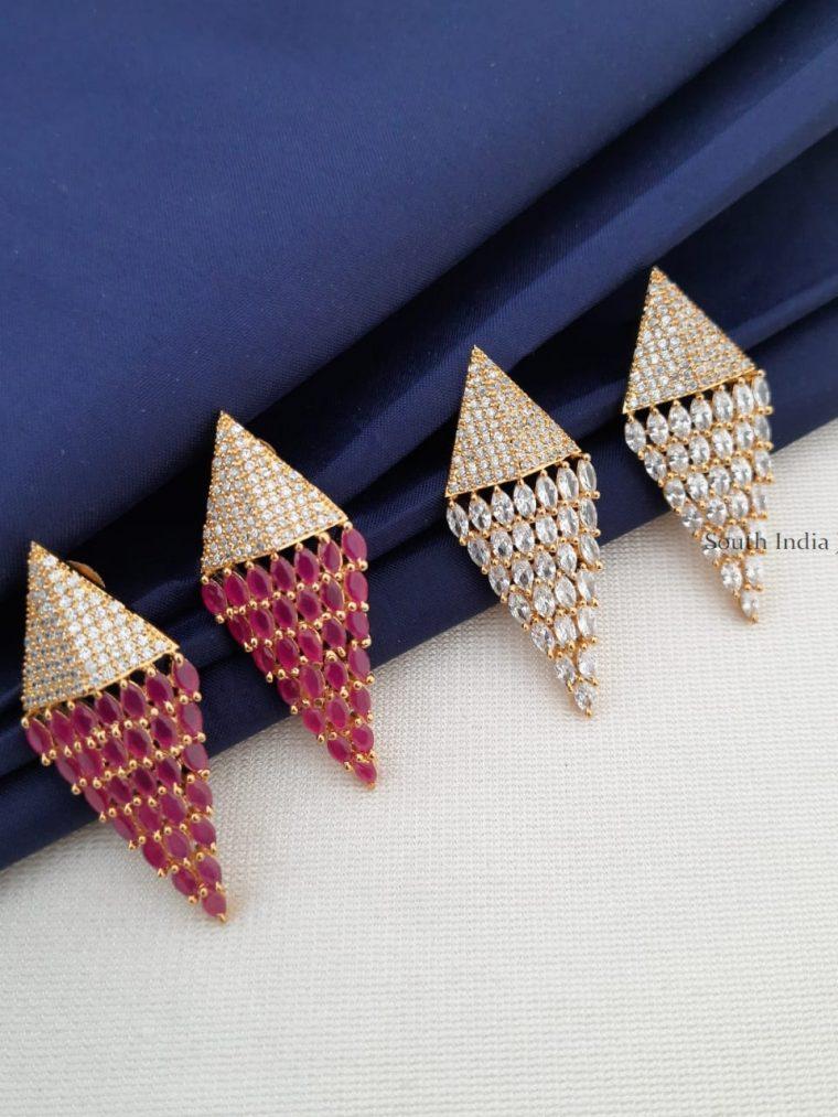 Unique CZ Stone Earrings