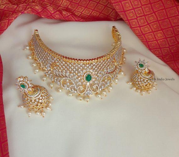 Adorable Bridal Choker with Jhumkas