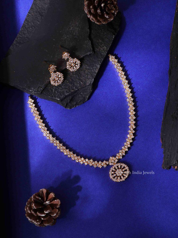 Amazing AD Stone Dollar Necklace