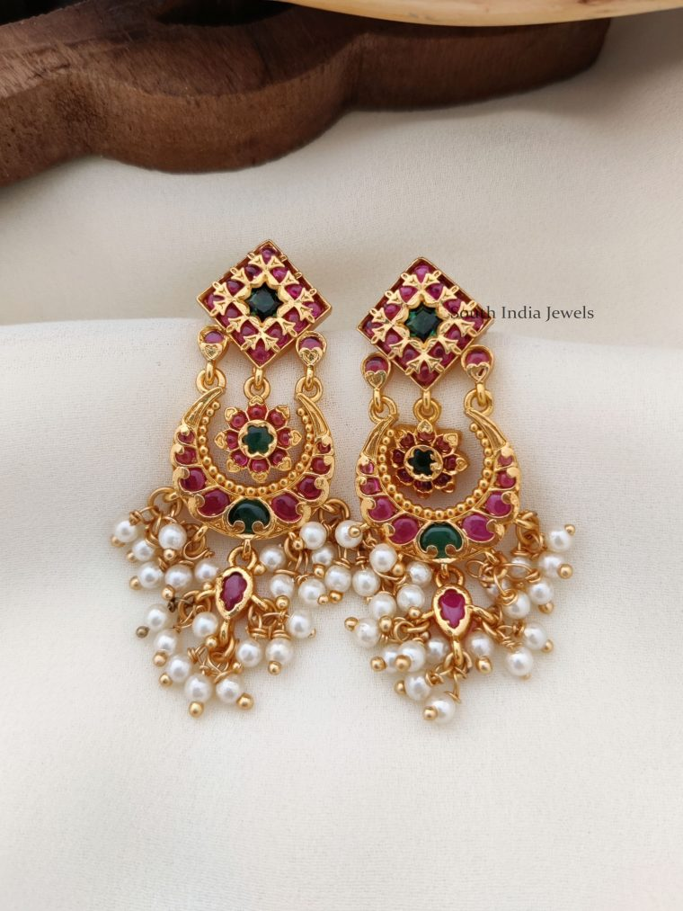 Amazing Chandbali Flower Design Earrings (2)