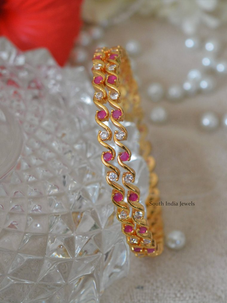 Amazing Gold Polish Bangles