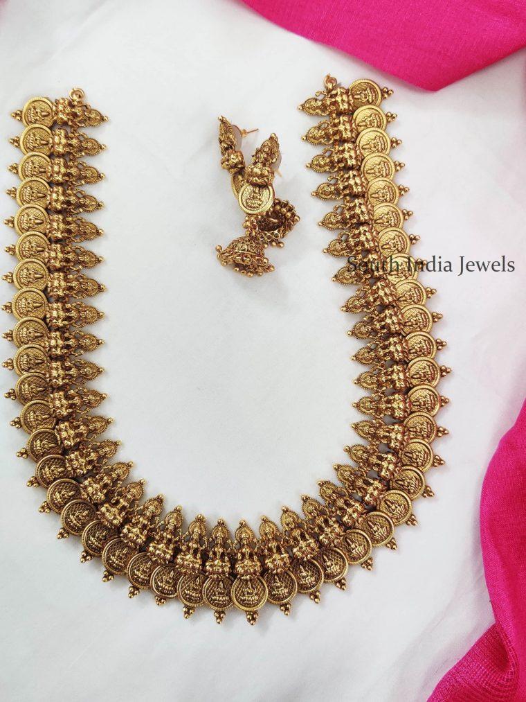 Amazing Lakshmi Coin Mid Length Haram
