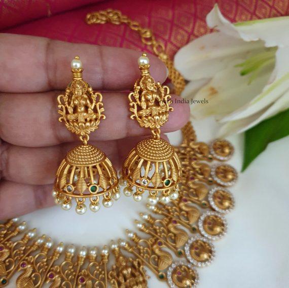 Amazing Lakshmi Matte Finish Necklace (2)