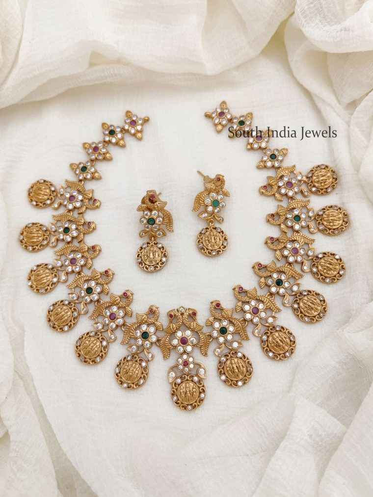 Amazing Ram Parivar AD Stone Necklace